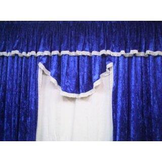 LKW-Gardinen/Vorhang-Set 07 + Frontscheibenborde aus Pannesamt