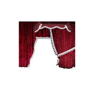 LKW-Gardinen/Vorhang-Set 09 + Frontscheibenborde aus Pannesamt