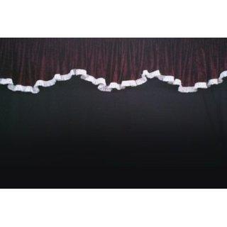 LKW-Gardinen/Vorhang-Set 14 + Frontscheibenborde aus Pannesamt