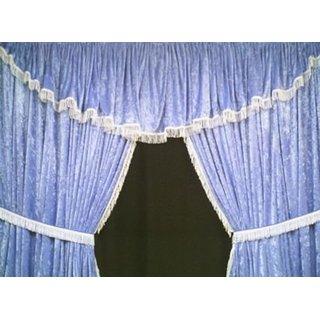 LKW-Gardinen/Vorhang-Set 13 + Frontscheibenborde aus Pannesamt
