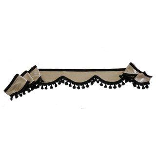 Frontscheibenborde Bogenform aus Verdunkelungs-Stoff