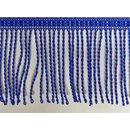 Fransen 8cm Meterware blau dick
