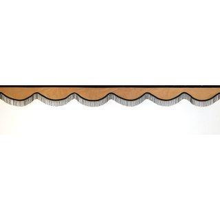 Frontscheibenborde Bogenform aus Alcantara Art