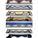 Frontscheibenborde  Großer Bogen aus Pannesamt