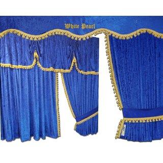 Kopie von LKW-Gardinen/Vorhang-Set 05 + Frontscheibenborde aus Pannesamt