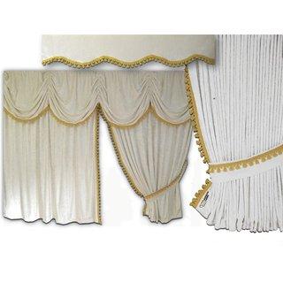 LKW-Gardinen/Vorhang-Set 15 + Frontscheibenborde aus Alcantara-Art