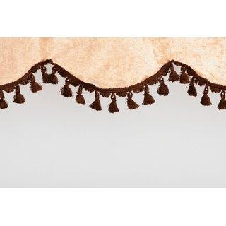 Frontscheibenborde Bogenform aus Pannesamt