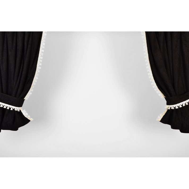 scheibengardinenattrappe aus velours mit gardinenband 55 00. Black Bedroom Furniture Sets. Home Design Ideas